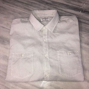 Express Mens Dress Casual Shirt White XL EUC